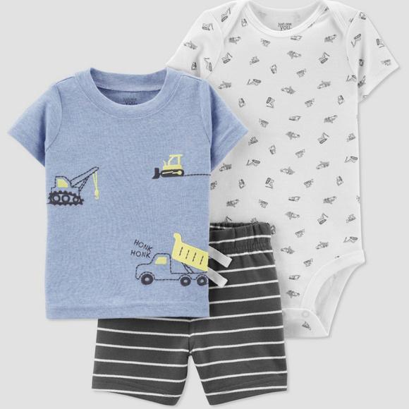 Baby Boy Carter/'s Tee /& Printed Shortall Set 3m 6m months NWT!!